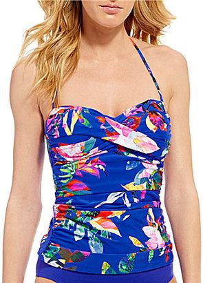 La Blanca Havana Tropics Twist Bandeaukini Top $87 thestylecure.com