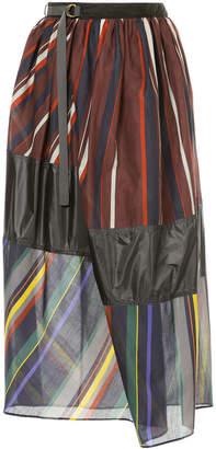 Kolor panelled midi skirt