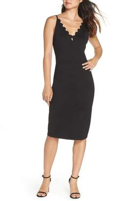 Adelyn Rae Scallop Sheath Dress