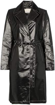 Alyx Williams belted vinyl trench coat
