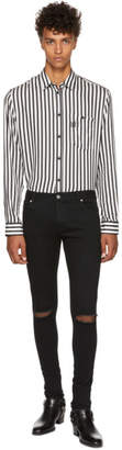Balmain Black Destroyed Skinny Jeans