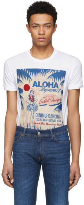White cocktail Lounge Chic Dan T-shirt