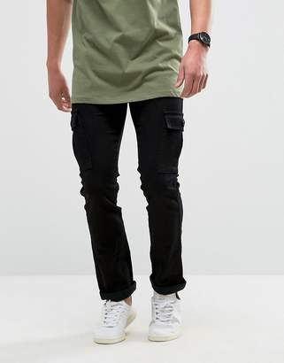 Pantalons Cargo Ingénierie - Replay Olive Foncé EOPLfJTY