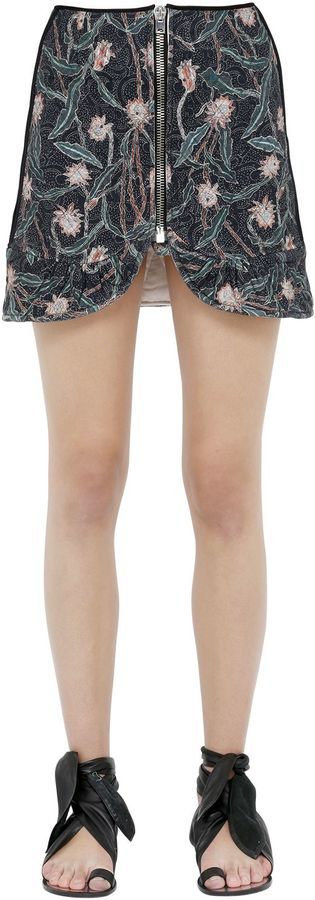 Isabel MarantFloral Printed Cotton Mini Skirt