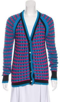 Prabal Gurung Printed Wool Cardigan