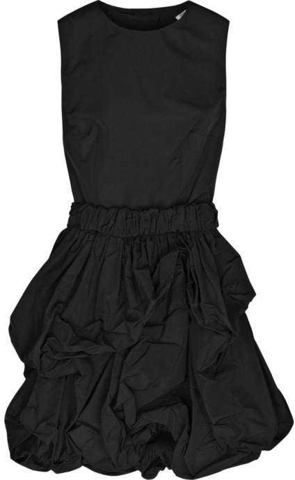 Carven Ruffle-skirt taffeta dress