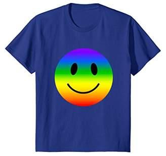 Happy Face Smiley Face T Shirt Hippie Rainbow