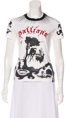 John Galliano Short Sleeve Logo-Print Top