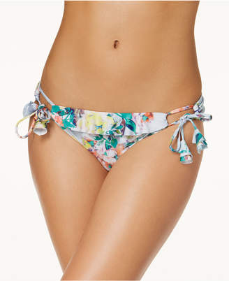 Becca Femme Printed Ruffled Side-Tie Bikini Bottoms Women's Swimsuit