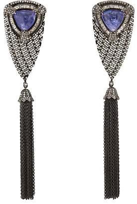 Carole Shashona Women's Bleu Waterfall Drop Earrings