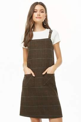Forever 21 Plaid Pinafore Dress