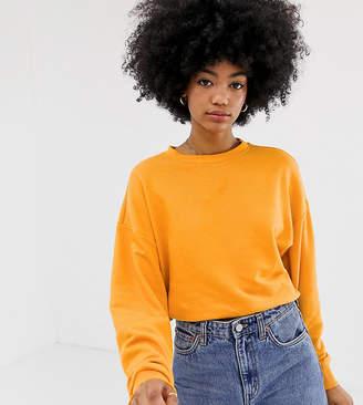 Weekday sweatshirt in orange melange