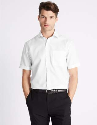 Marks and Spencer Short Sleeve Non-Iron Tailored Fit Shirt