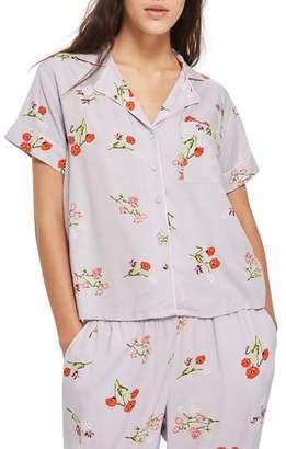 Topshop Poppy Pajama Shirt