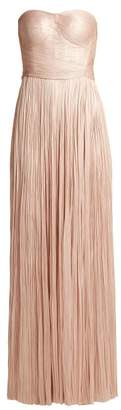 Maria Lucia Hohan Anjoux Strapless Silk Gown - Womens - Nude