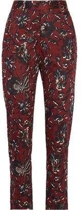 Etoile Isabel Marant Janelle Printed Cotton Tapered Pants