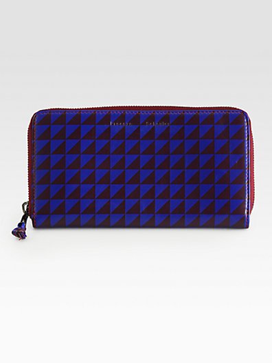 Proenza Schouler Long Printed Zip-Around Wallet