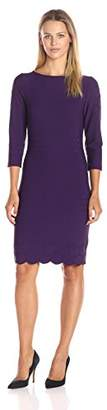 Julia Jordan Women's 3/4 Sleeve Bateau Neck Body Con Shift Dress $32.37 thestylecure.com