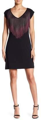 Tart Delcine Fringe Short Sleeve Dress
