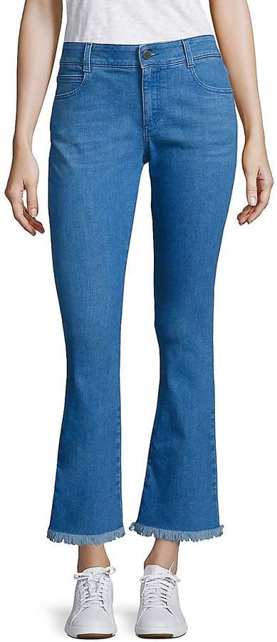 Stella McCartney Women's Skinny Kick Flare Raw-Edge Jeans
