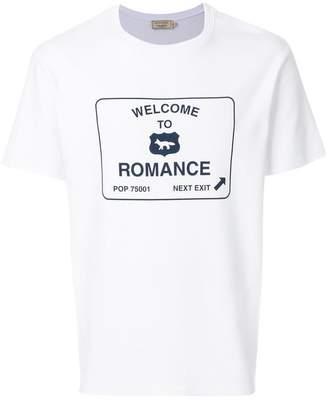 MAISON KITSUNÉ Romance road panel T-shirt