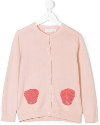 Stella McCartney shell embroidered knit cardigan