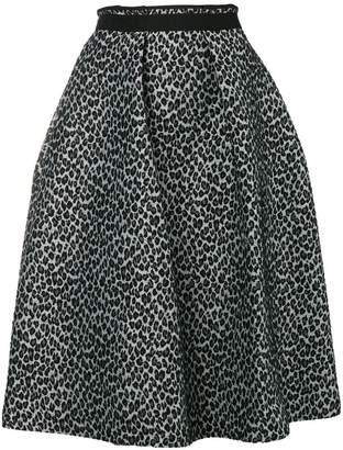 Odeeh leopard jacquard full skirt
