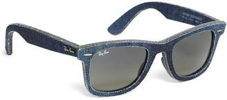 Brooks Brothers Ray-Ban Wayfarer Blue Denim Sunglasses
