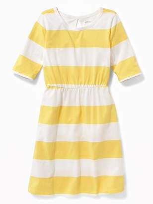 Old Navy Printed Jersey Fit & Flare Dress for Girls