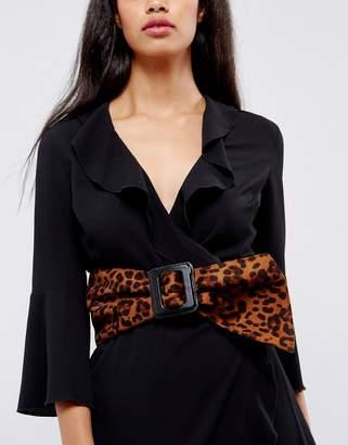 Asos Design 80s Leopard Sash Waist Belt