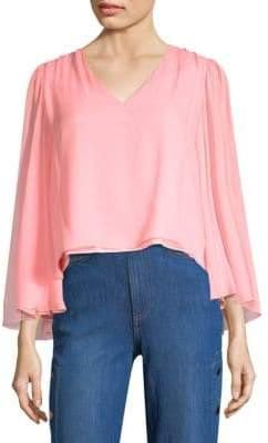 Alice + Olivia Jerrica V-Neck Blouse