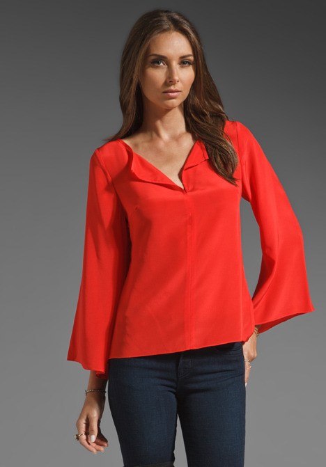 Trina Turk Solid Crepe Finch Top