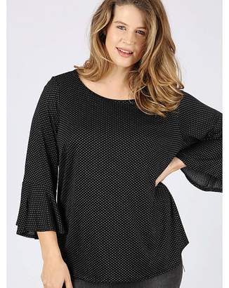 Koko black flared sleeve top