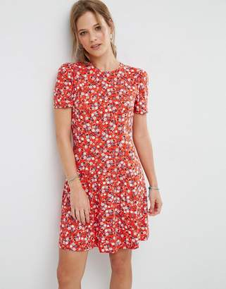 ASOS Mini Tea Dress In Floral Print $38 thestylecure.com