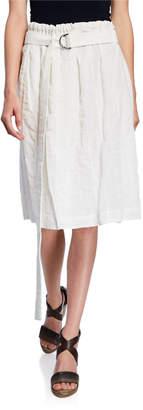 Brunello Cucinelli Sequined Stripe Skirt w\/ Detachable Belt
