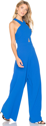 Alice + Olivia Trinity Cross Front Jumpsuit $440 thestylecure.com
