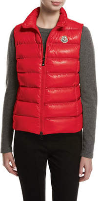 Moncler Ghany Shiny Quilted Puffer Vest