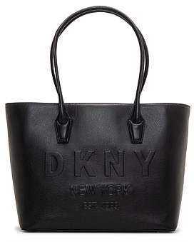 DKNY Hutton-Lg Tote-Debossed Pebble