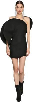 Saint Laurent Cloth Wool Round Details Mini Dress