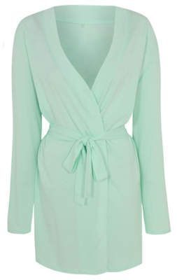 George Mint Green Wrap Dressing Gown
