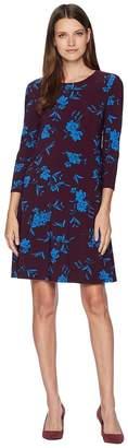 Lauren Ralph Lauren Abbi Almonte Floral 3/4 Sleeve Day Dress Women's Dress