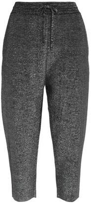 Jil Sander Cropped Wool-Blend Donegal Tapered Pants