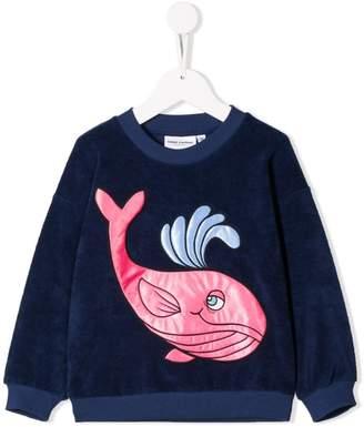 Mini Rodini embroidered whale sweatshirt