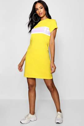 boohoo Tall LA Motocross Slogan Print T-Shirt Dress