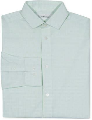 Calvin Klein Big Boys Check-Print Button-Front Dress Shirt
