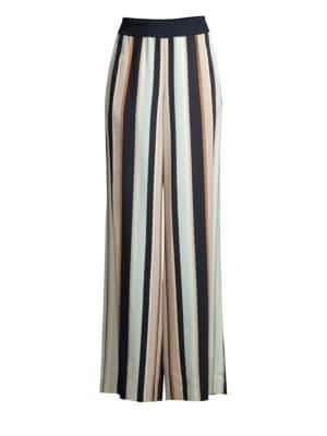 Lafayette 148 New York Hester Striped Wide-Leg Pants