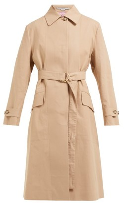 Stella McCartney Single Breasted Cotton Trench Coat - Womens - Camel