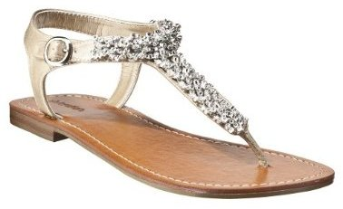 Women's Xhilaration® Titania Flat Thong Sandals - Silver