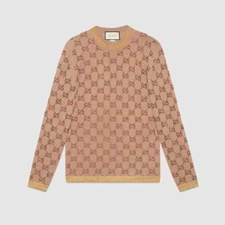 Gucci (グッチ) - オンライン限定 クリスタルGGパターン セーター