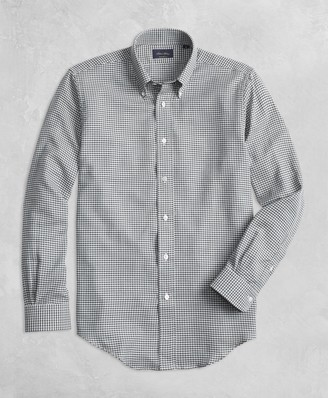 Brooks Brothers Golden Fleece BrooksTech Regent Fit Yarn-Dyed Check Sport Shirt